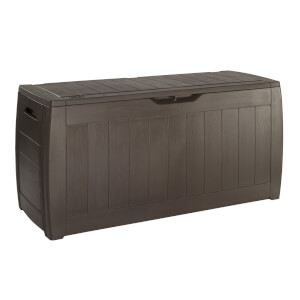Keter Hollywood Garden Plastic Storage Box 270L - Brown