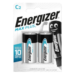 Energizer MAX PLUS Alkaline C Batteries - 2 Pack