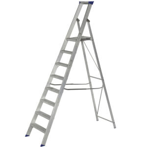 Werner MasterTrade Platform Step Ladder - 8 Tread
