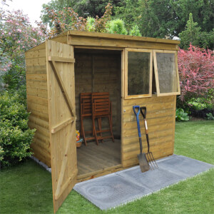 7x5ft  Forest T&G  Pressure Treated Pentagonal Shed - incl. Installation