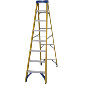 Werner Fibreglass Step Ladder - 8 Tread