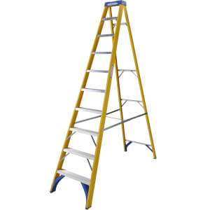 Werner Fibreglass Step Ladder - 10 Tread