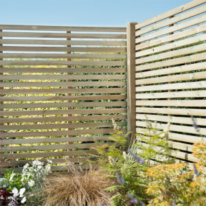 Forest Slatted Fence Panel - 6ft - Pack of 5