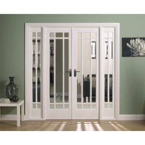 Manhattan Internal Glazed Primed White Room Divider - 1904 x 2031mm