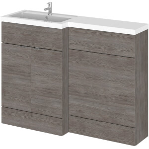 Balterley Dynamic 1200mm Left Hand WC Combination Unit - Grey Avola