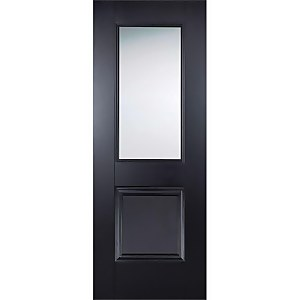 Arnhem Internal Glazed Primed Black 1 Lite 1 Panel Door - 686 x 1981mm
