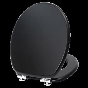 Resonance Black Toilet Seat