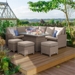 Nova Belmont Rising Casual Rattan Dining Set Left in Natural