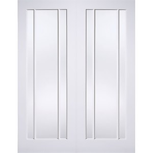 Lincoln Internal Glazed Primed White 3 Lite Pair Doors - 1524 x 1981mm