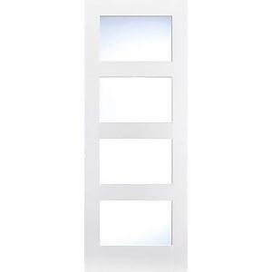 Shaker Internal Glazed Primed White 4 Lite Door - 838 x 1981mm