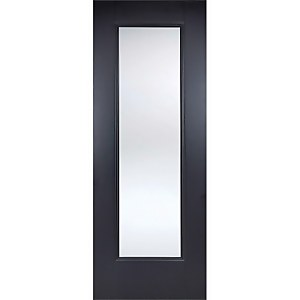 Eindhoven Internal Glazed Primed Black 1 Lite Door - 686 x 1981mm