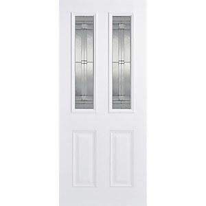 Malton External Glazed White GRP 2 Lite Door - 838 x 1981mm