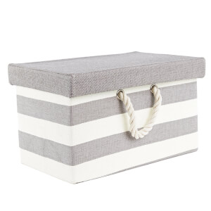 Rectangle Striped Box with Lid