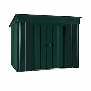 Lotus Low Pent Shed 6x4ft Heritage Green