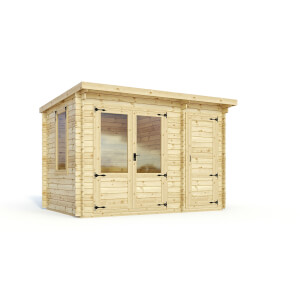 Mercia (Installation Included) 3.5x2.4m Trent 19mm Log Cabin