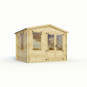 Mercia (Installation Included) 3x3.3m Sherwood 19mm Log Cabin