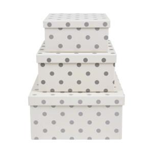 Spot Cardboard Storage Boxes - Set of 3