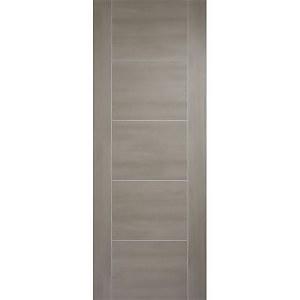 Vancouver Internal Light Grey Laminate 5 Panel Door - 762 x 1981mm