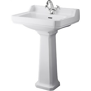 Balterley Harrington 1 Tap Hole Basin and Pedestal - 600mm
