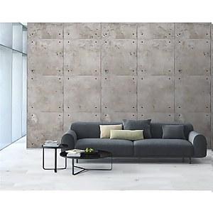 Grandeco Concrete Block Neutral Digital Wallpaper Mural