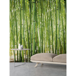 Grandeco Bamboo Green Digital Wallpaper Mural