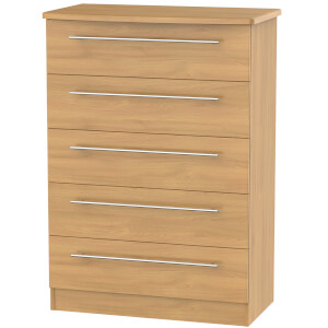 Siena Modern Oak 5 Drawer Chest