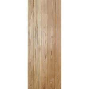 Button Bead Ledged Internal Unfinished Oak Door - 762 x 1981mm