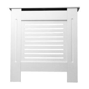 Horizontal White Radiator Cover - Mini
