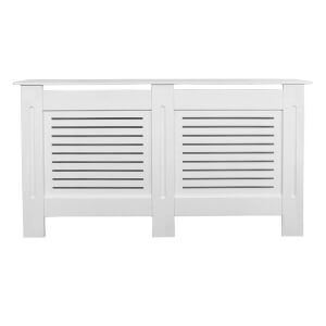 Horizontal White Radiator Cover - Large