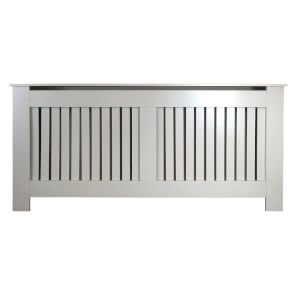 Vertical Grey Radiator Cover - Extra Large
