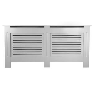 Horizontal Grey Radiator Cover - Extra Large