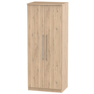 Siena Bordeaux Oak 2 Door Wardrobe