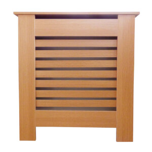 Horizontal Oak Radiator Cover - Mini