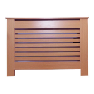 Horizontal Oak Radiator Cover - Small