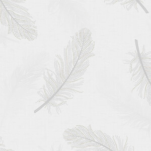 Holden Decor Marcia Feather Plain Embossed Metallic Glitter Grey Wallpaper