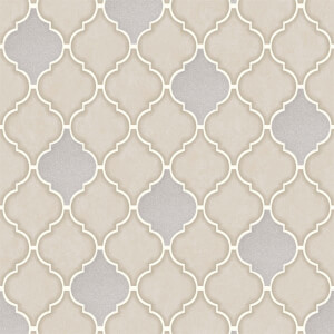 Holden Decor Trellis Tile Embossed Metallic Glitter Stone Wallpaper