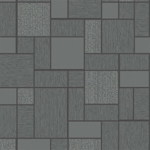 Holden Decor Glitter Tile Textured Glitter Black Wallpaper