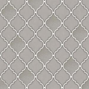 Holden Decor Trellis Tile Embossed Metallic Glitter Charcoal Wallpaper