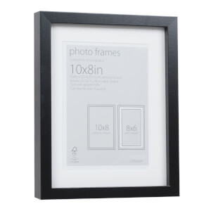Photo Frame Black 10 x 8 with 8 x 6 Mount Aperture