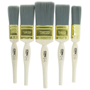 Coral Precision Paint Brush Set 5 Piece