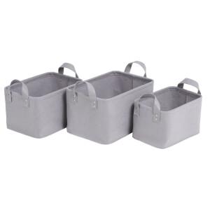 Felt Basket 3 Pack - Grey
