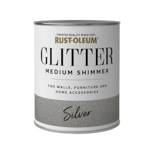 Rust-Oleum Medium Shimmer Silver Glitter - 250ml