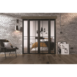 Greenwich - W6 Room Divider - Black - 2031 x 1904 x 35mm