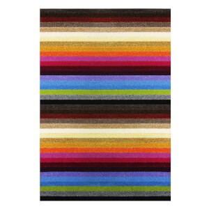Sofia Stripe Washable Mat - Rainbow