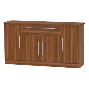Siena Wide 4 Door 1 Drawer Sideboard - Noche Walnut