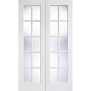 Gtpsa - Glazed Pair - White Primed Internal Door - 1981 x 1524 x 40mm