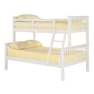 Otto Trio Bunk Bed - White