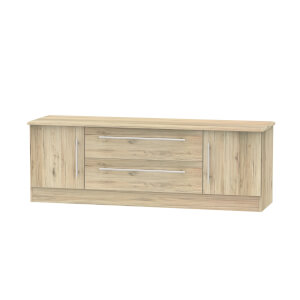 Siena Wide 2 Door 2 Drawer TV Unit - Bordeaux Oak