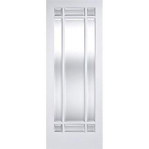 Manhattan - Glazed White Primed Internal Door - 1981 x 762 x 35mm