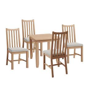 Kea 4 Seater Dining Set - Oak